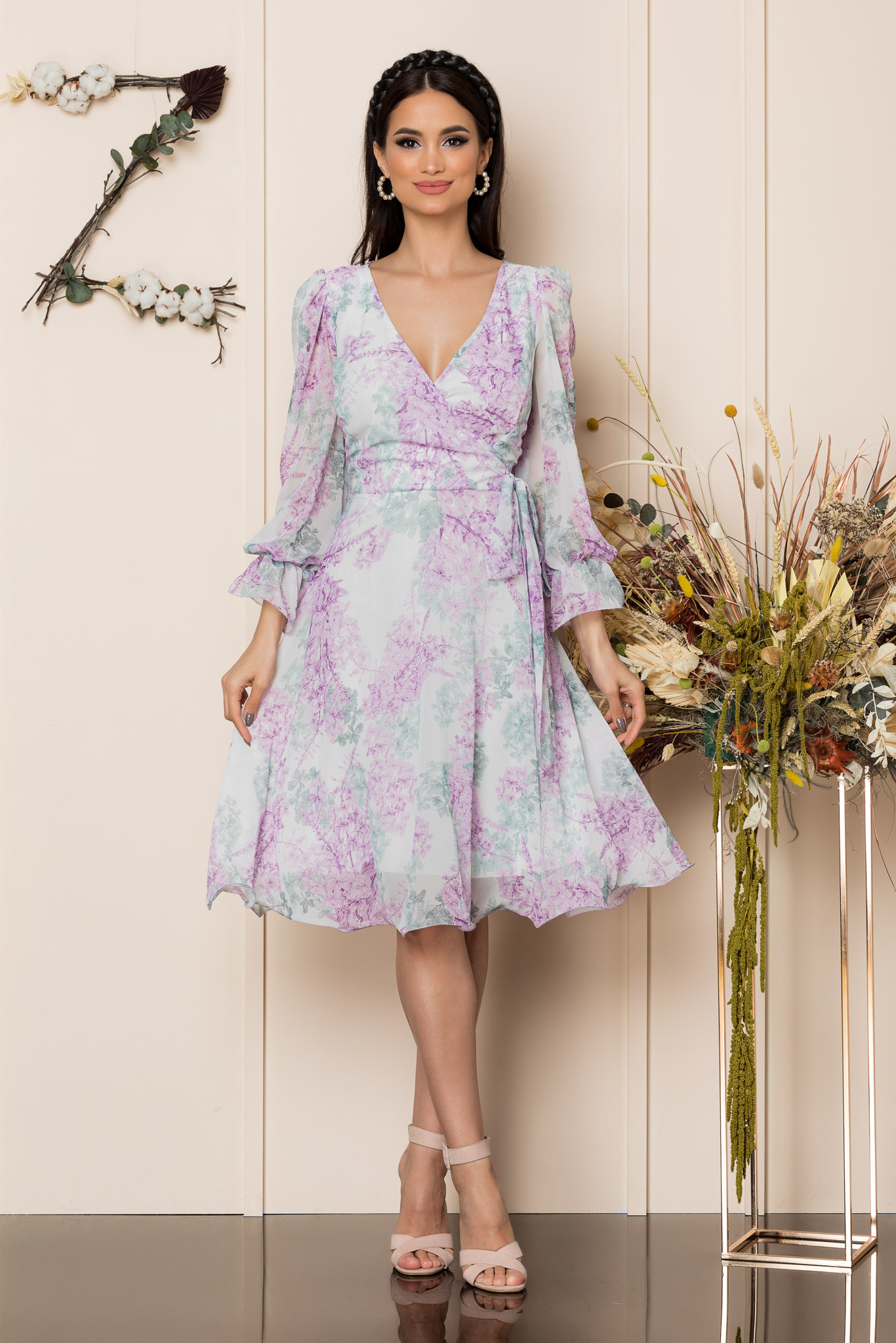 Rochie Simine Lila Floral