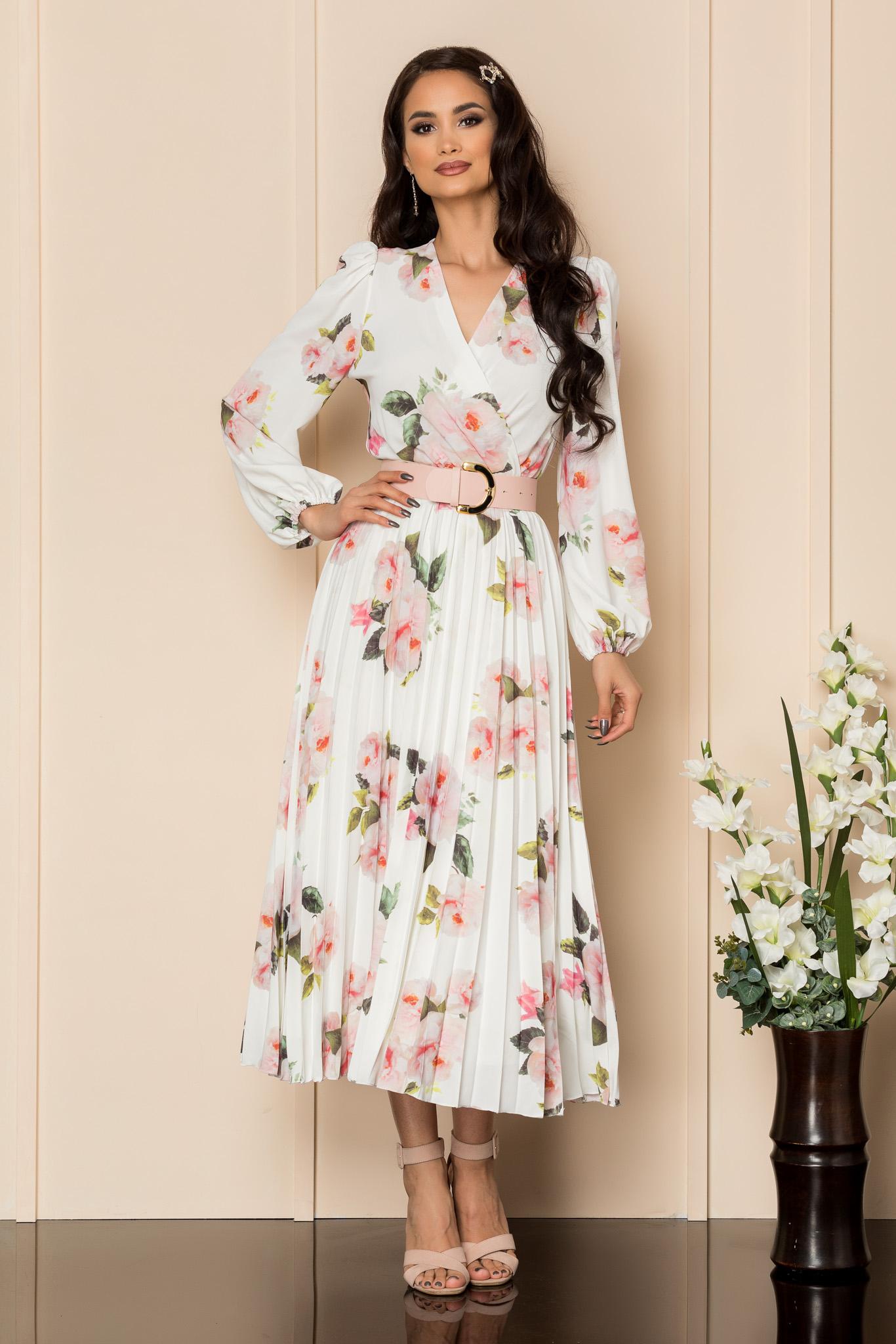 Rochie Malina Alb Floral
