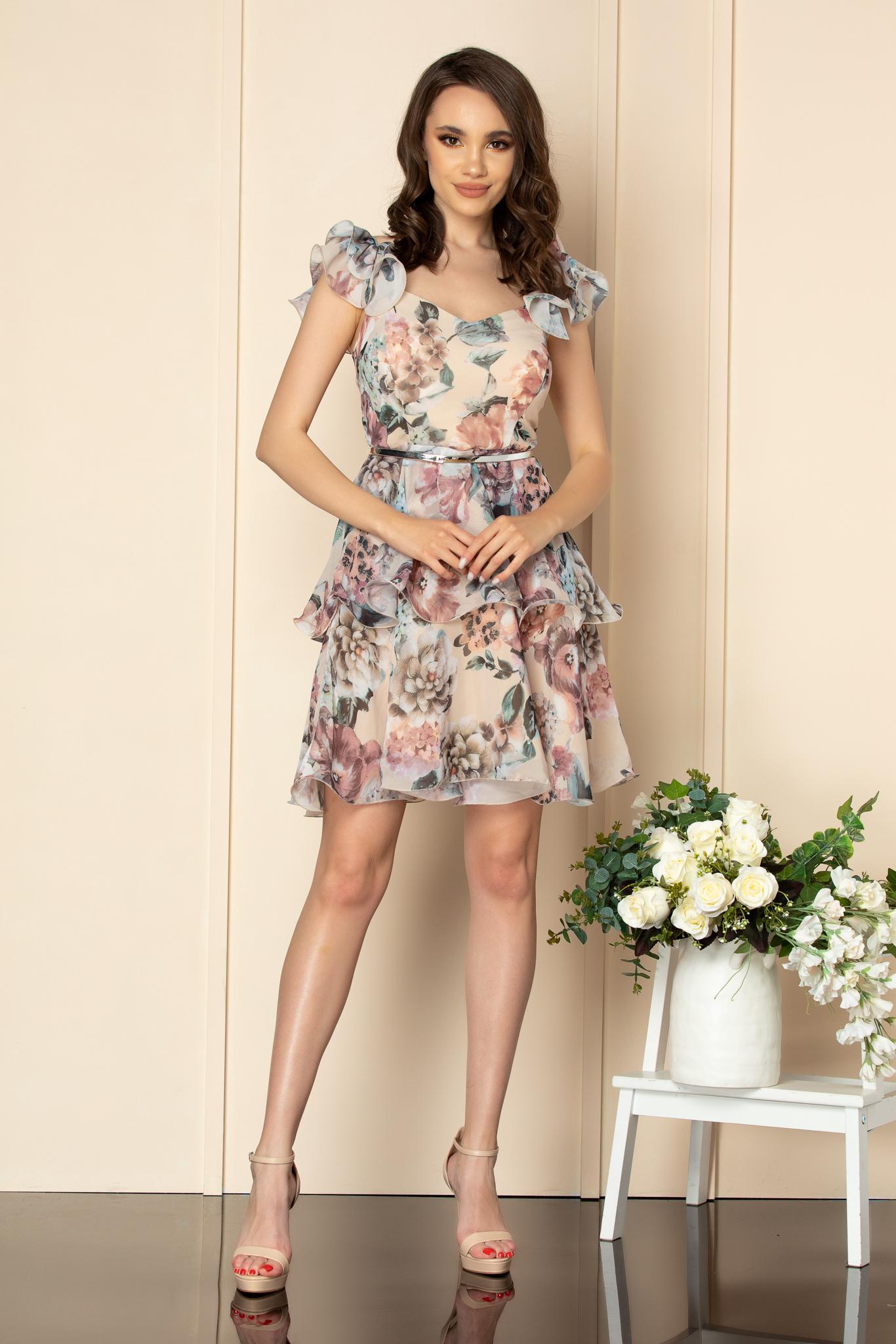 Rochie Aniko Nude Floral