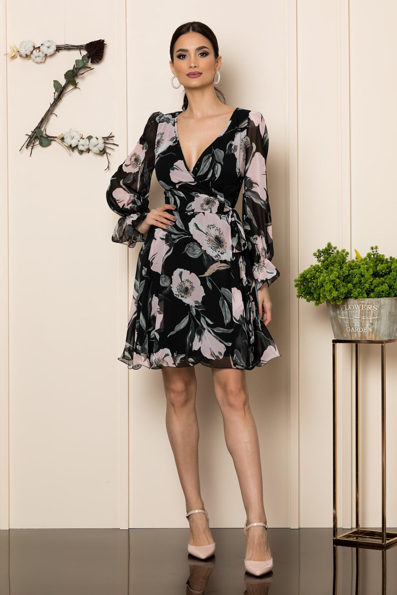 Rochie Simine Negru Floral