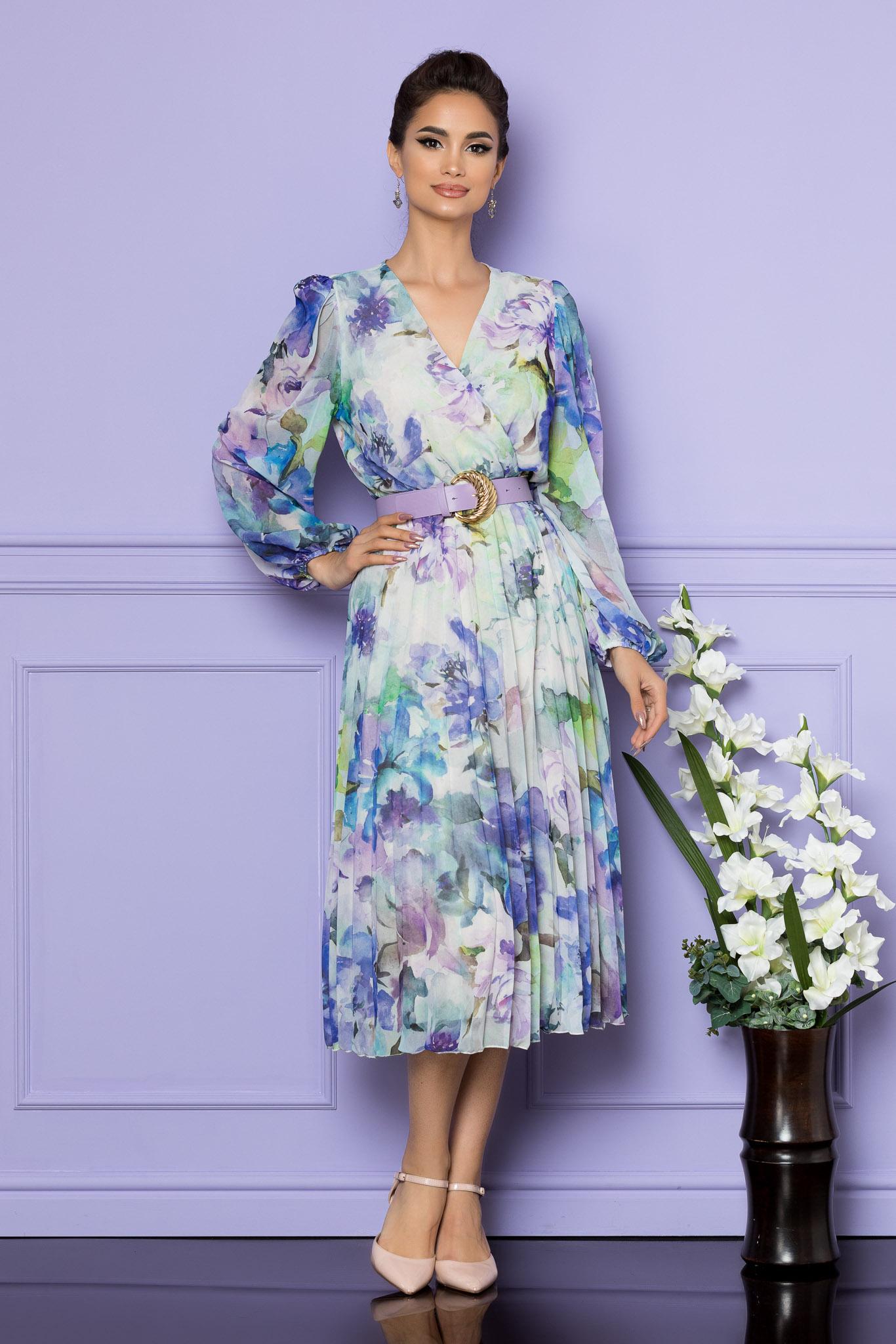 Rochie Ingrid Albastru Floral
