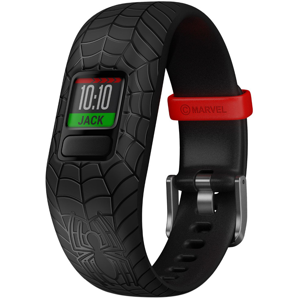 Smartband fitness Garmin VivoFit Jr 2 Spiderman, Negru