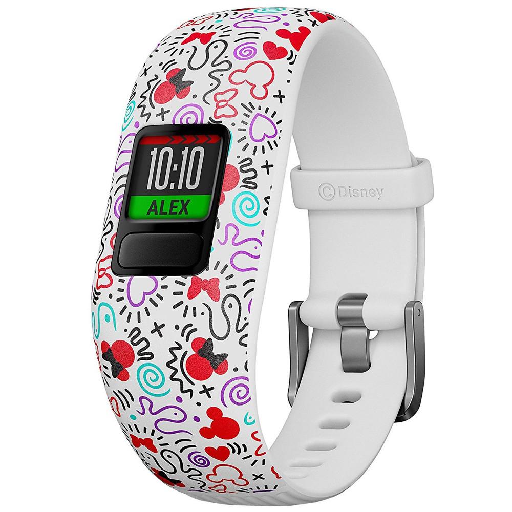 Smartband fitness Garmin VivoFit Jr 2, Minnie Mouse, Alb
