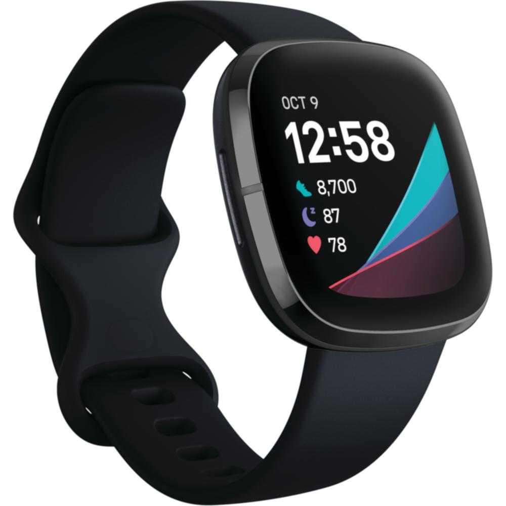 Smartwatch Fitbit Sense, NFC, Carbon