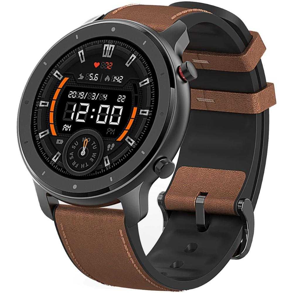 Smartwatch Amazfit GTR, 47mm, Aluminium Case, Maro
