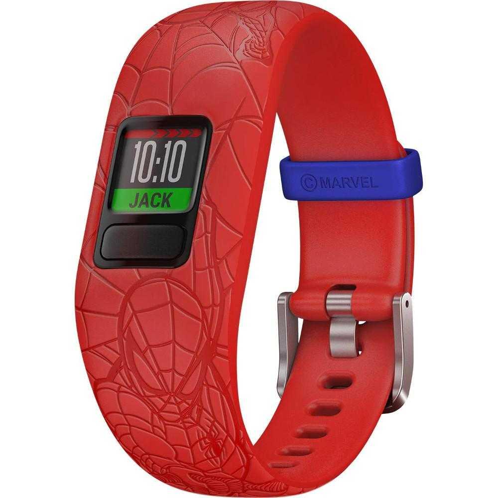 Smartband Garmin Vivofit Jr. 2, Bratara reglabila, Spider-Man, Rosu