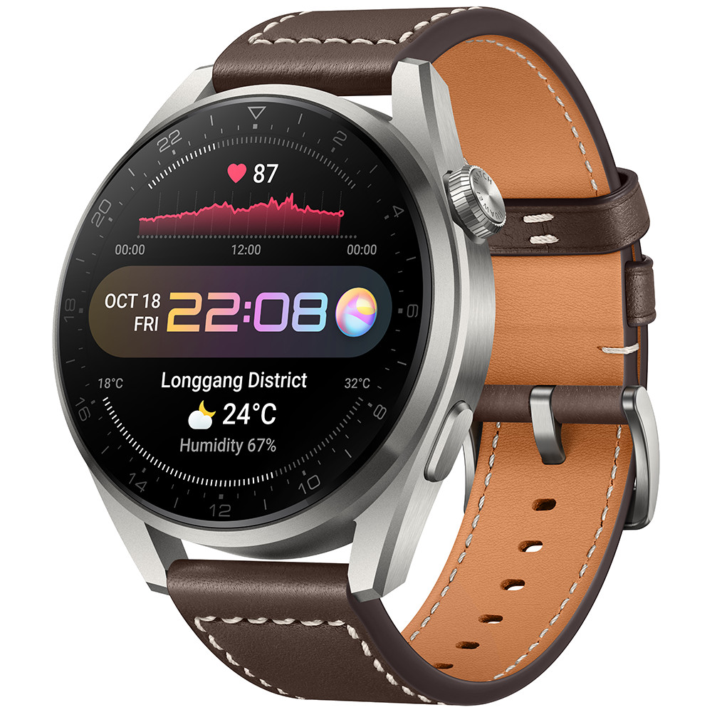 Smartwatch Huawei Watch 3 Pro, 48mm, Brown Leather