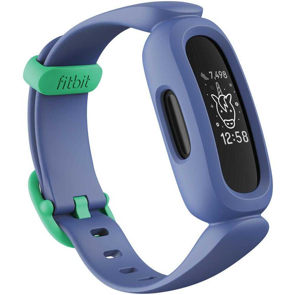 Smartband Fitbit Ace 3 Kids, Cosmic Blue Astro Green