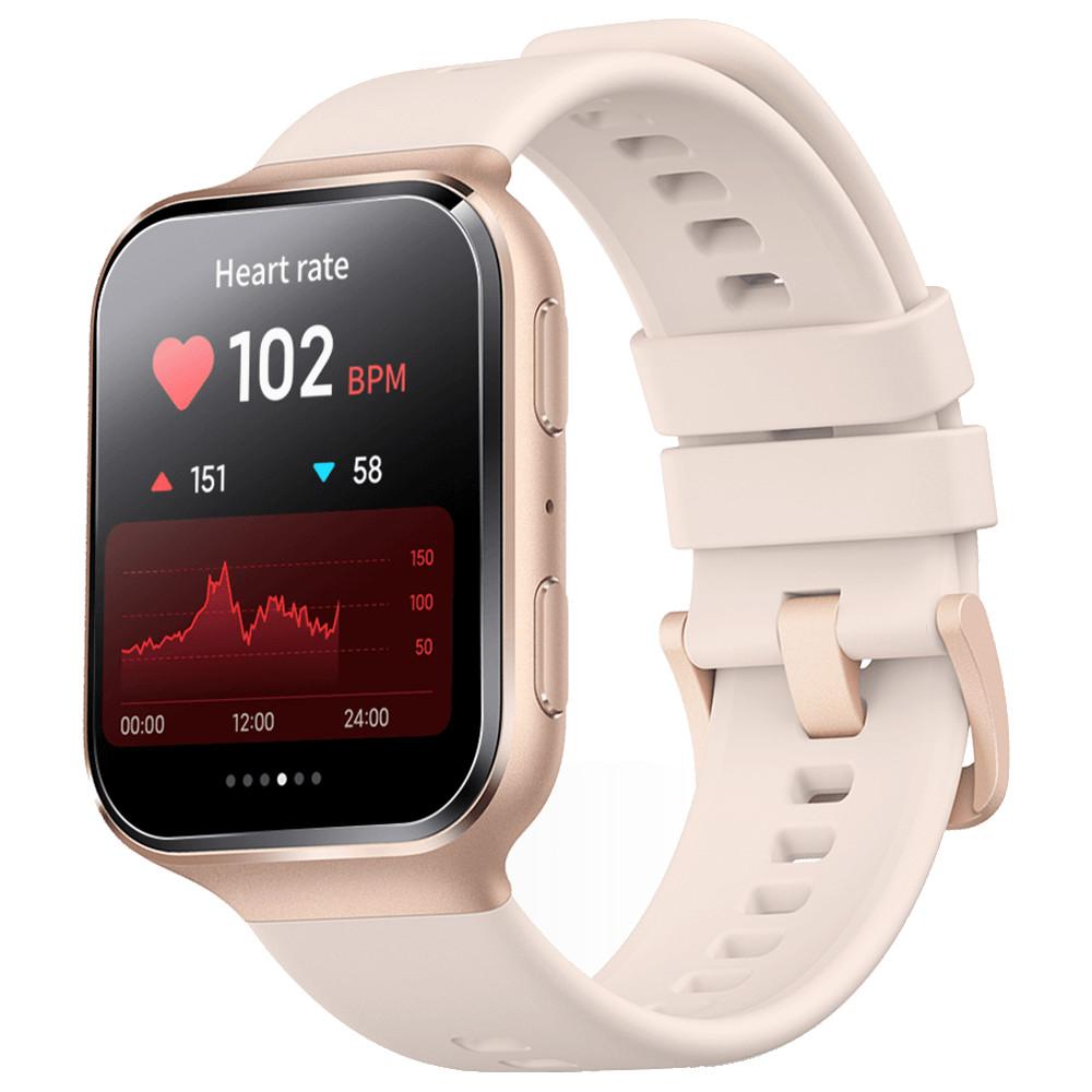 Smartwatch 70Mai Saphir, Geam din safir, GPS, Control vocal Alexa, Auriu