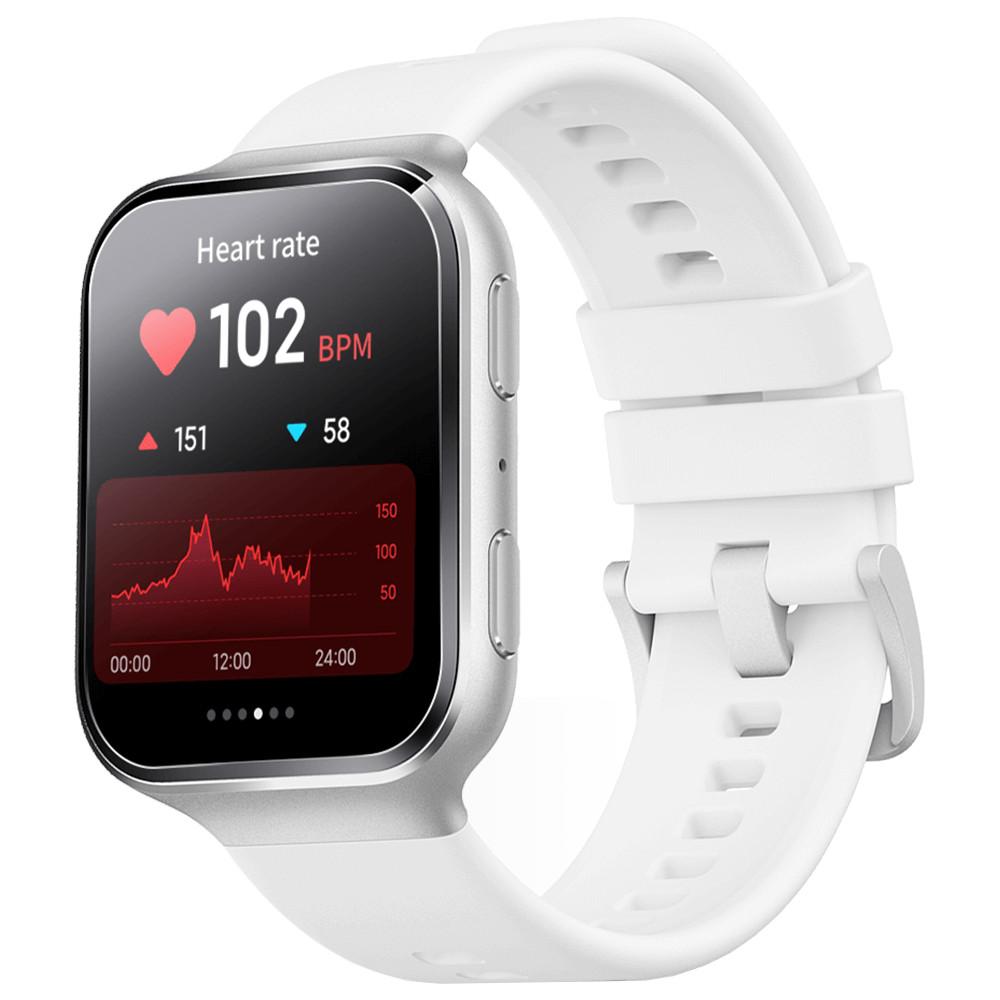 Smartwatch 70Mai Saphir, Geam din safir, GPS, Control vocal Alexa, Argintiu